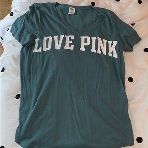 Pink (Victoria Secret) V Neck T Shirt